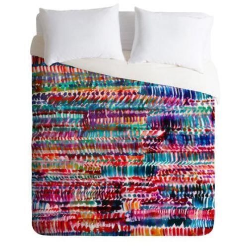 DENY-DESIGNS-AMY-SIA-RAIN-2-DUVET-COVER-LUX-QUEEN-SIZE-NWOT-BEDDING