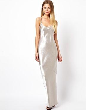 2eda7a3ecefb6 Crepe Satin Cami Maxi Dress   The slip dress   Dresses, Satin cami ...