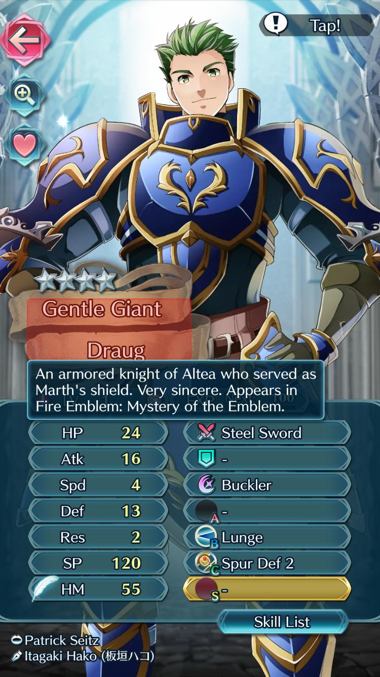 Sir Draug Of Altea Fe Shadow Dragon In Fe Heroes Fire Emblem Memes Ifunny