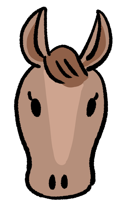 馬の顔のイラスト Onwaイラスト 馬の顔 イラスト フリー素材 イラスト