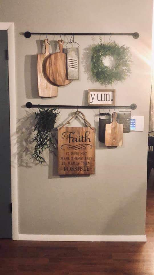 Pin By Sydney Scurlock On Decorating Ideas Affordable Farmhouse Decor Kitchen Wall