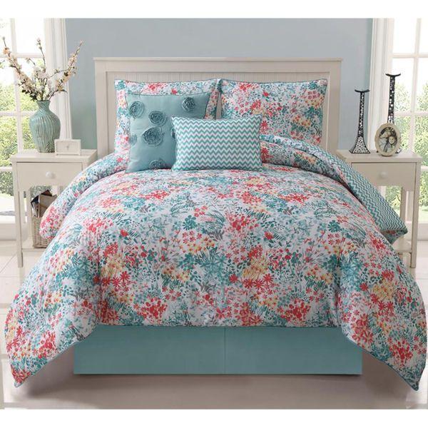 Coral Teal And Yellow Kids Bedding Wayfair Com Comforter Sets