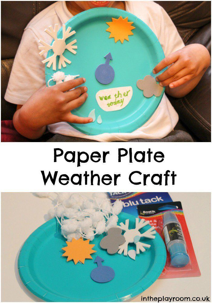 Paper Plate Weather Craft Weather Crafts Fun Crafts For Kids