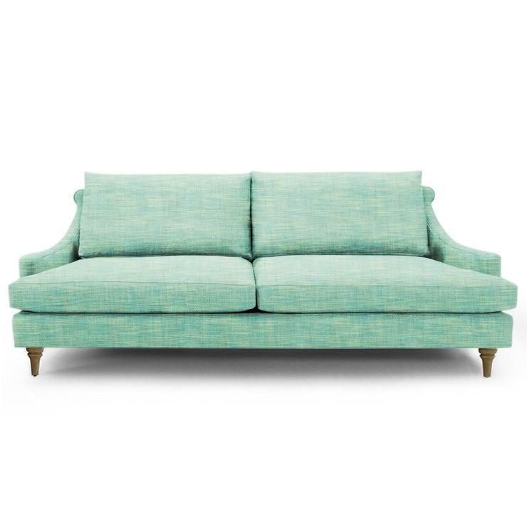 seating jonathan adler kensington sofa with vintage base allmodern mint green modern sofa