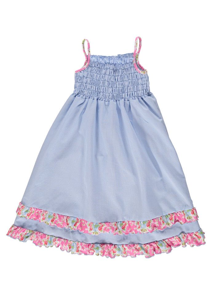 eb1ee4bcf651e Sky Blue Sun Dress With Ruffle by Mitty James Kids Beachwear | Mitty ...