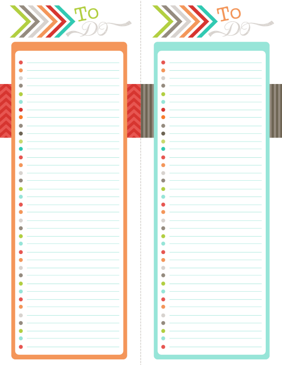 to do fillable and editable printable productivity organization