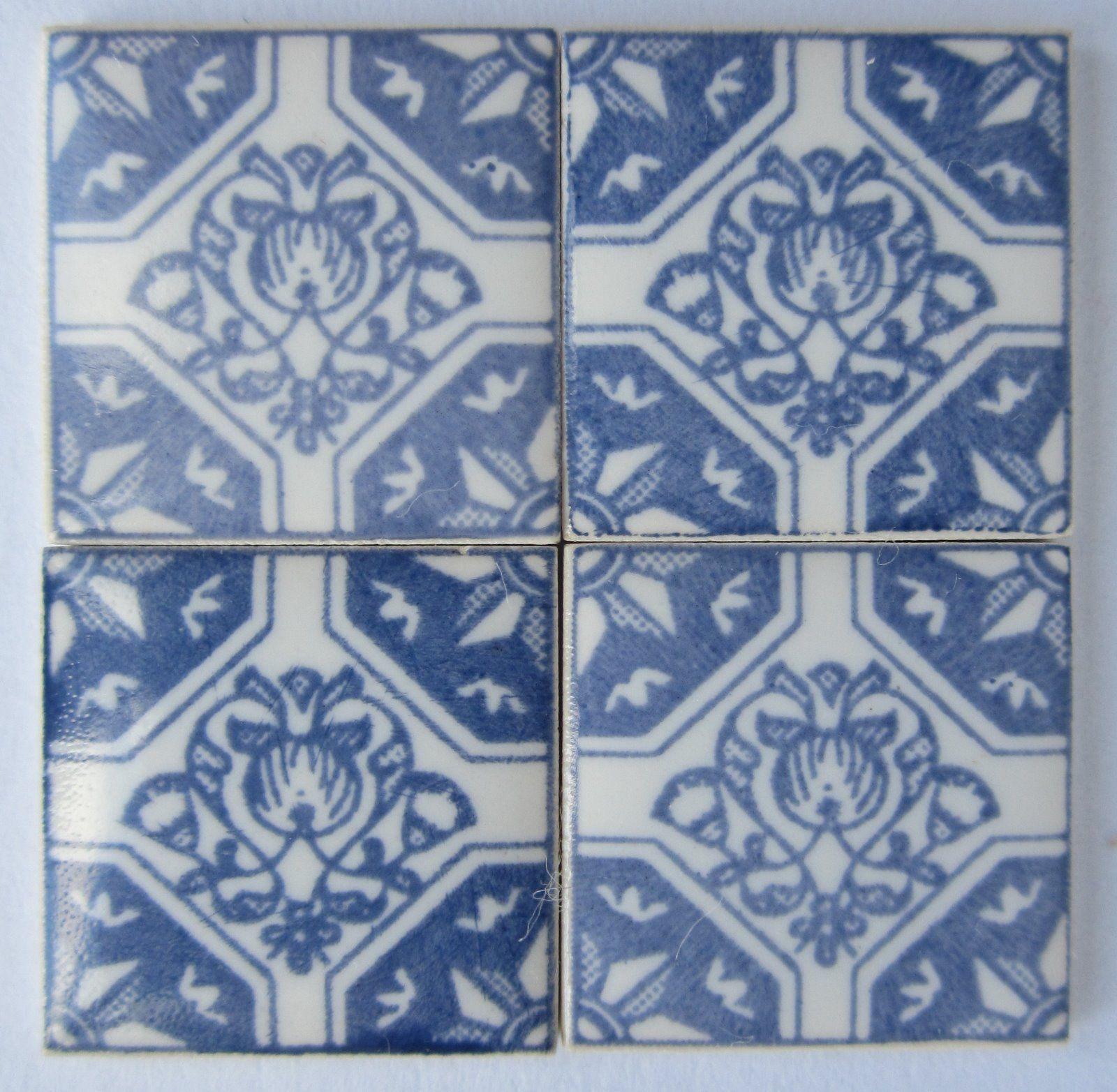 10 ceramic miniature Delft tiles byTerry Curran 1/2\