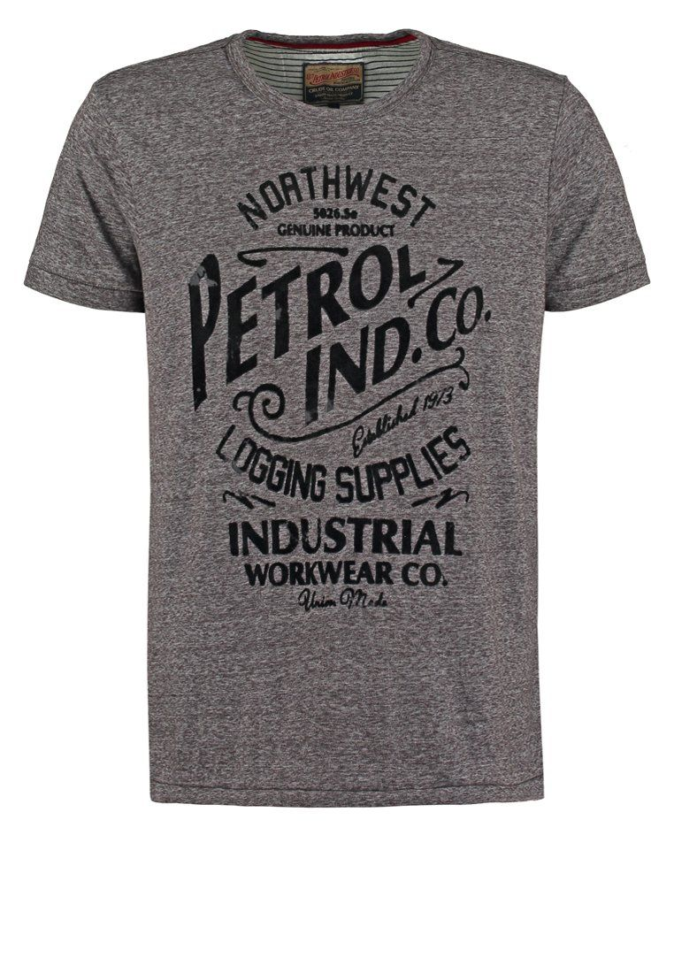 Petrol Industries Print T-shirt - slate melee for £25.00 (07/01