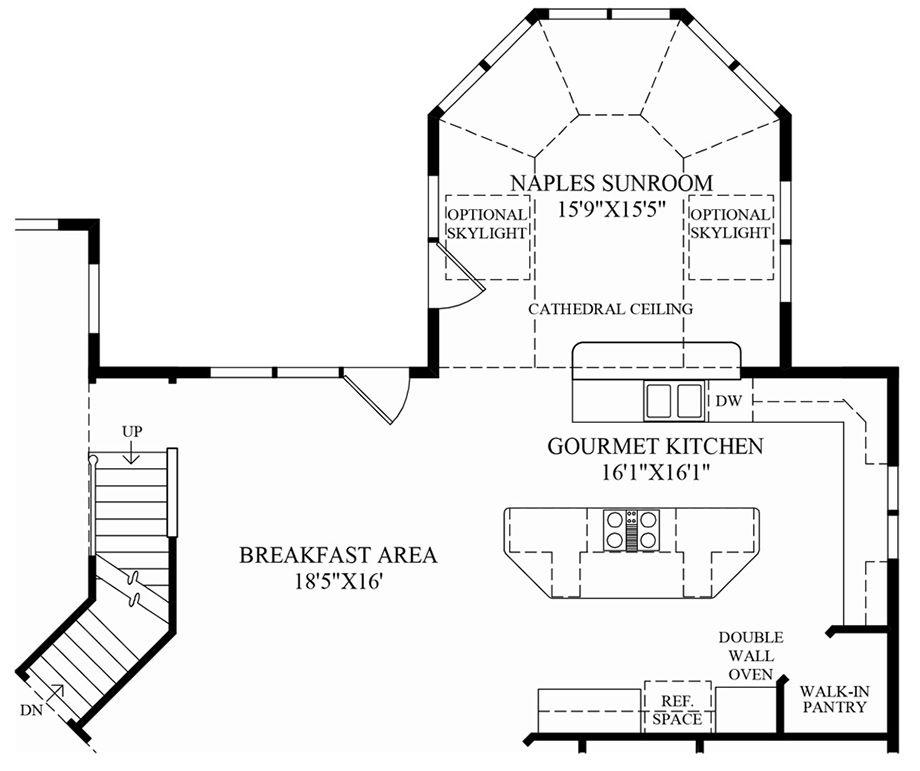 Toll Brothers Hampton Floor Plan