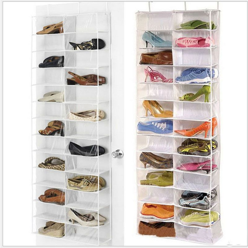 Over The Door Hanging Shoe Organizer Storage Holder Sorter For 26 Pairs Shoes Rack Hanger Storage Shoe Rack Hanger Hanging Shoe Organizer Shoe Rack With Shelf