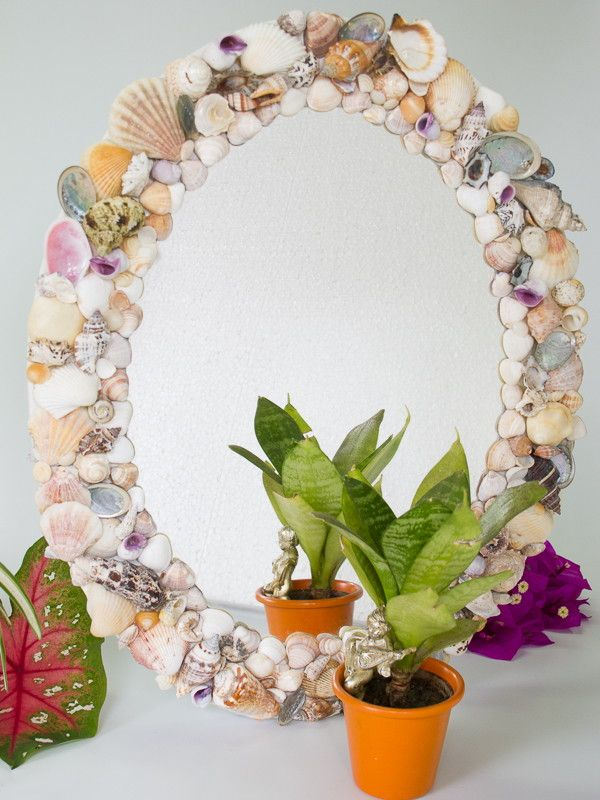 Espelho Conchas do Mar | Conchas, Mosaicos y Espejo