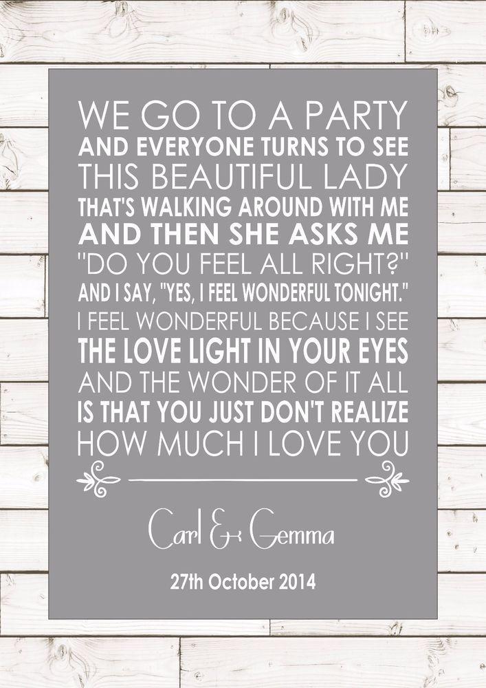 Lyric much more lyrics : WONDERFUL TONIGHT - ERIC CLAPTON Wedding Anniversary First Dance ...