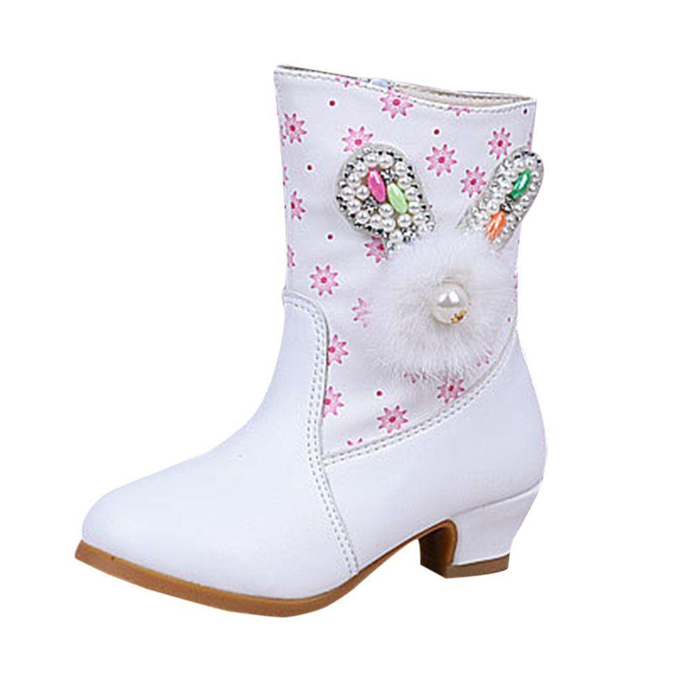 Zhhlinyuan Little Girls Comfort Flats Shoes Kids Elegant Bowknot Princess Shoes