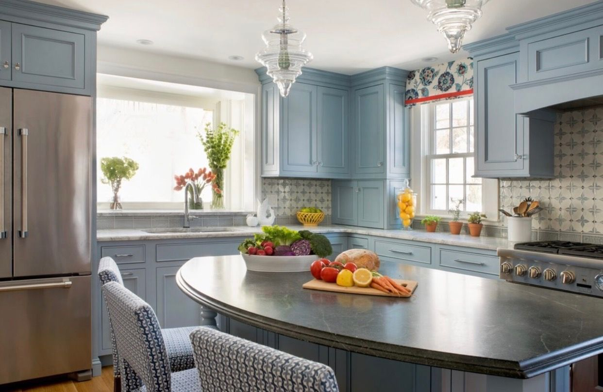 pin by eve on dreaming luxury kitchen design luxury kitchen on kitchen decor blue id=32704