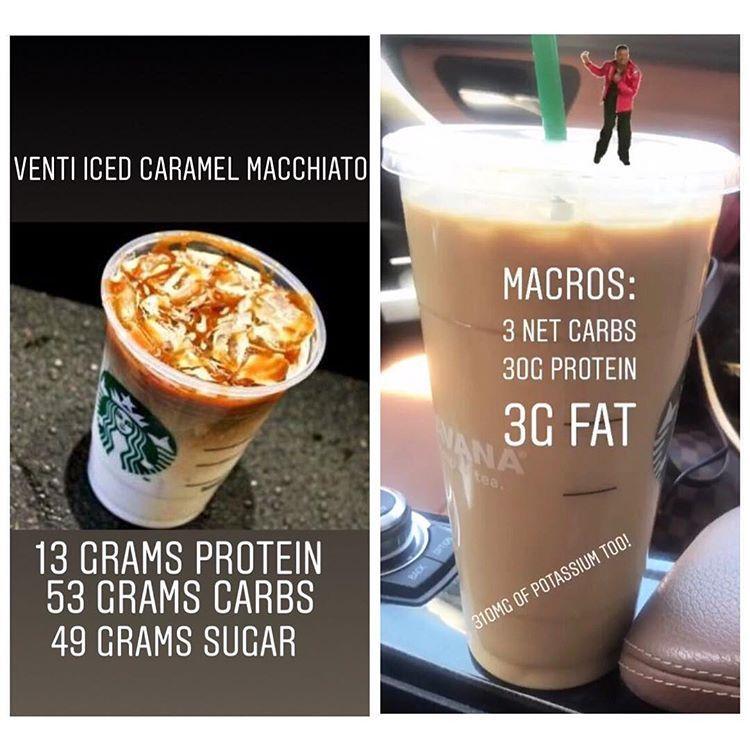 Preketo my Starbucks order was a venti iced caramel