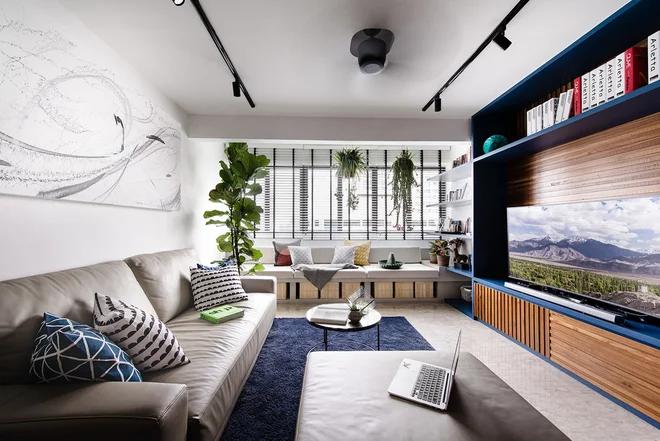Houzz Tour Well Designed Storage Gives This Flat Natural Beauty Ruangan Interior Ruang Tamu Rumah