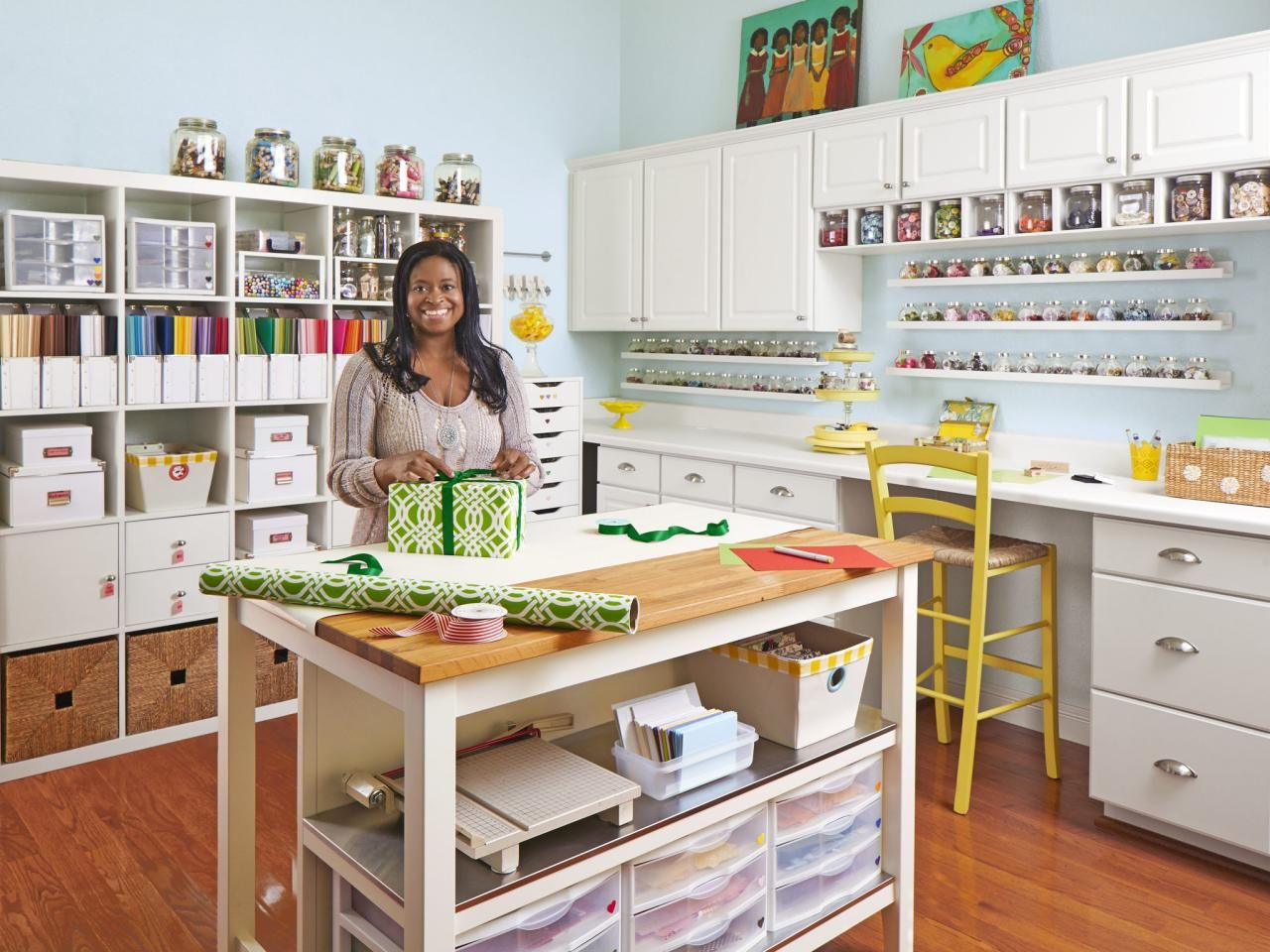 Sewing Room Designs: Craft And Sewing Room Storage And Organization