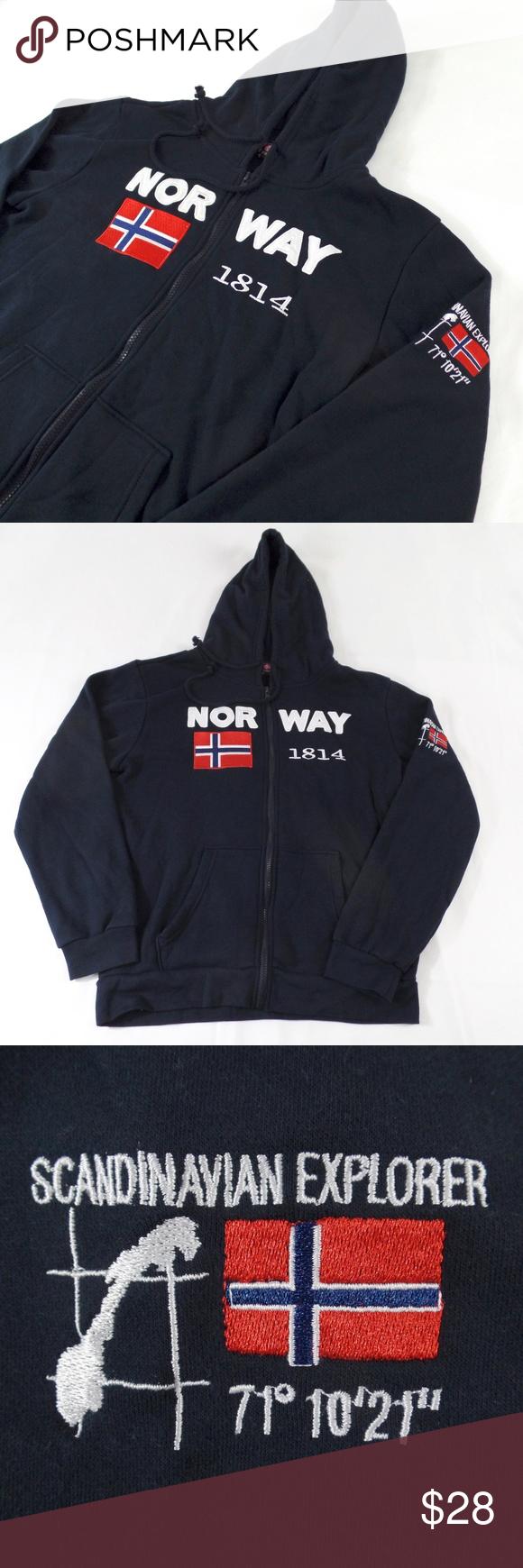 Sold Norway Hooded Sweatshirt Jacket S Hooded Jacket Sweatshirts Jackets Sweatshirts