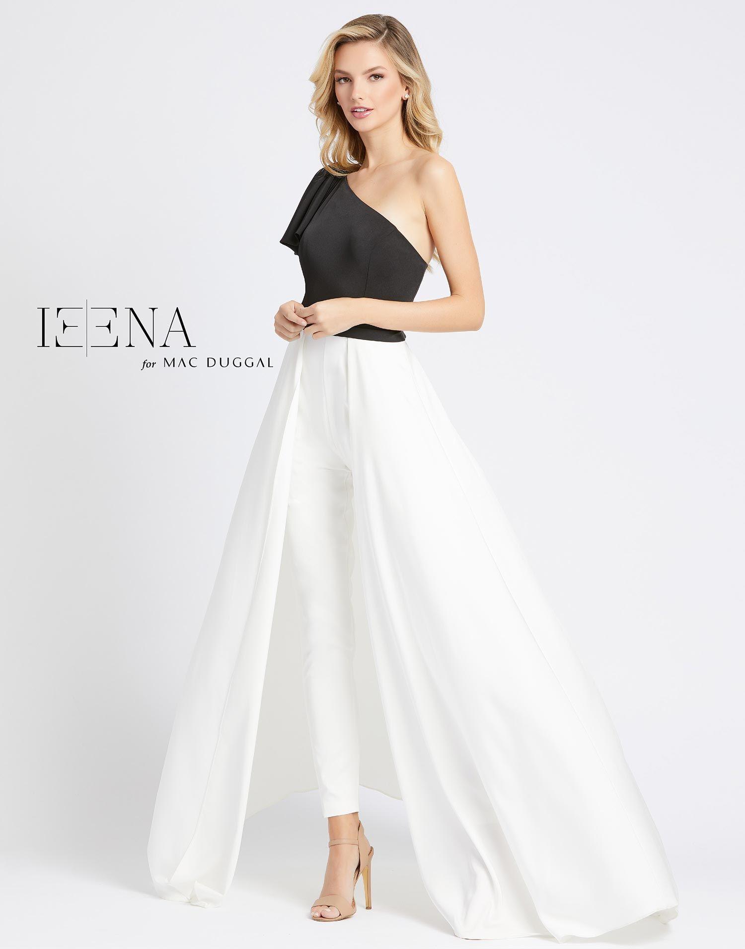 26191i Ieena For Mac Duggal Ieena Duggal Asymmetric Jumpsuit Formal Dresses [ 1912 x 1500 Pixel ]