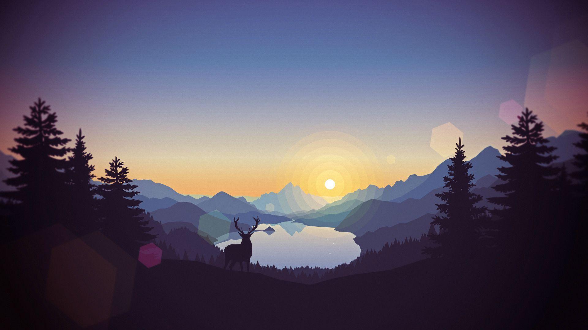 imgur.com   Landscape wallpaper, Art wallpaper, Sunset ...