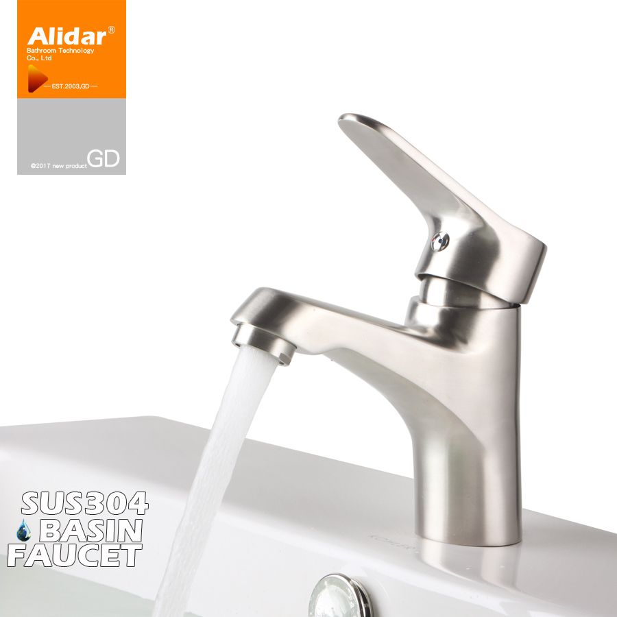304 Stainless Steel Bathroom Faucet Home Cold Wash Wash Hotel Engineering Disk Bathroom Manufacturers Steel Bathroom Stainless Steel Bathroom Bathroom Fixtures