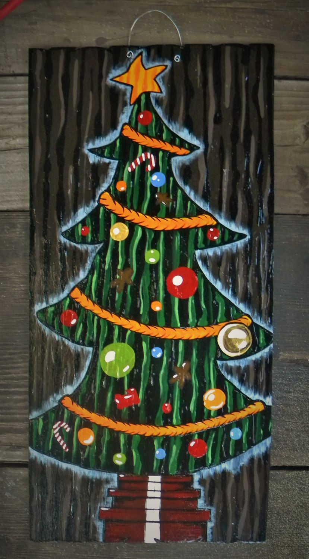 Nightmare Before Christmas Inspired/ Christmas Tree Door ...