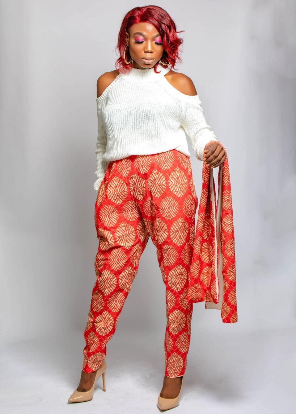 Amnu Pants And Scarf | Africaprint shop #africandressstyles