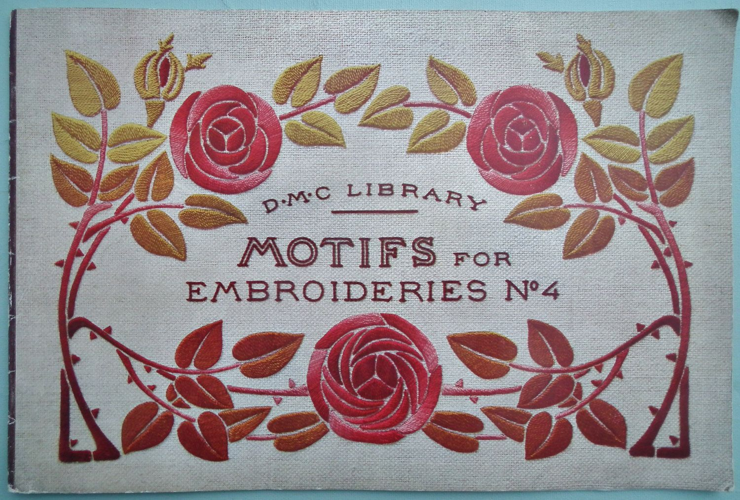 vintage art nouveau embroidery | Vintage Embroidery Book 1920s Motifs for by sewmuchfrippery
