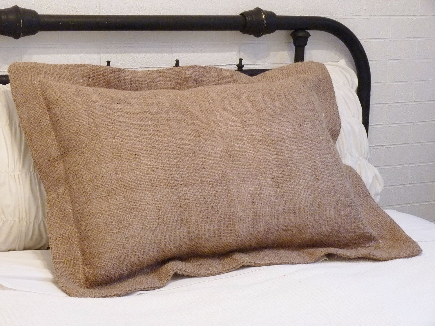 Burlap Pillow Sham - Standard Size by metzinteriors on Etsy https ...