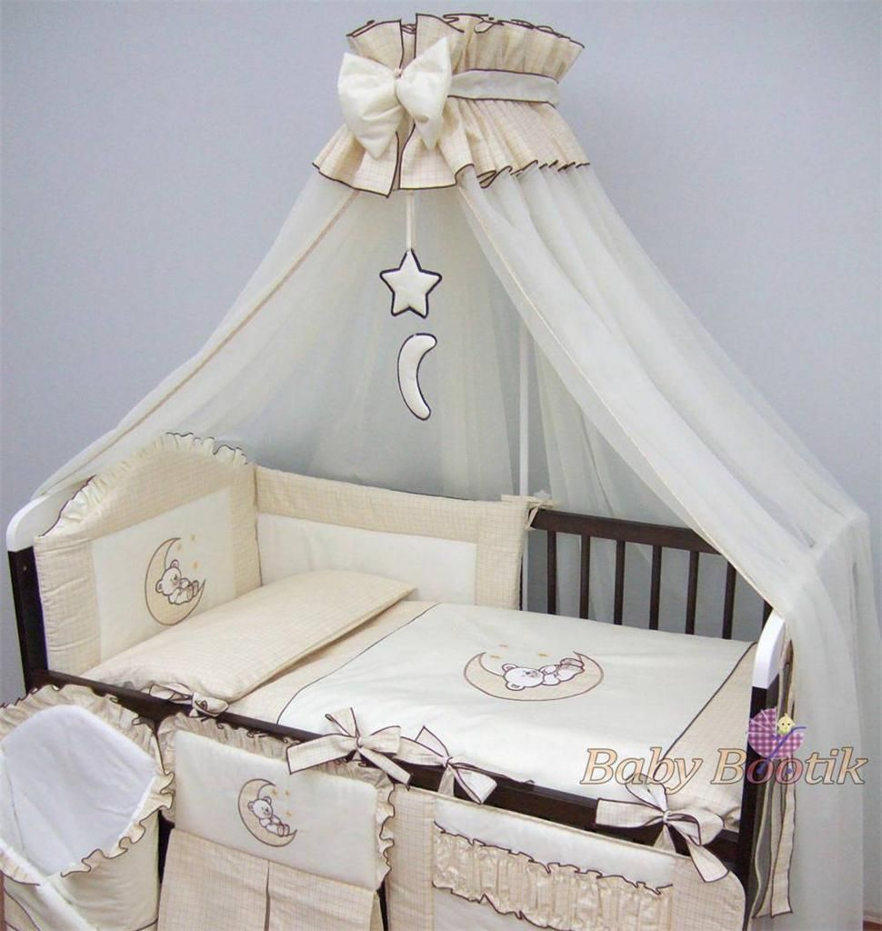Luxury Baby Canopy Drape 480cm Width Holder Fit Cot Cot Bed Cream M Enxoval