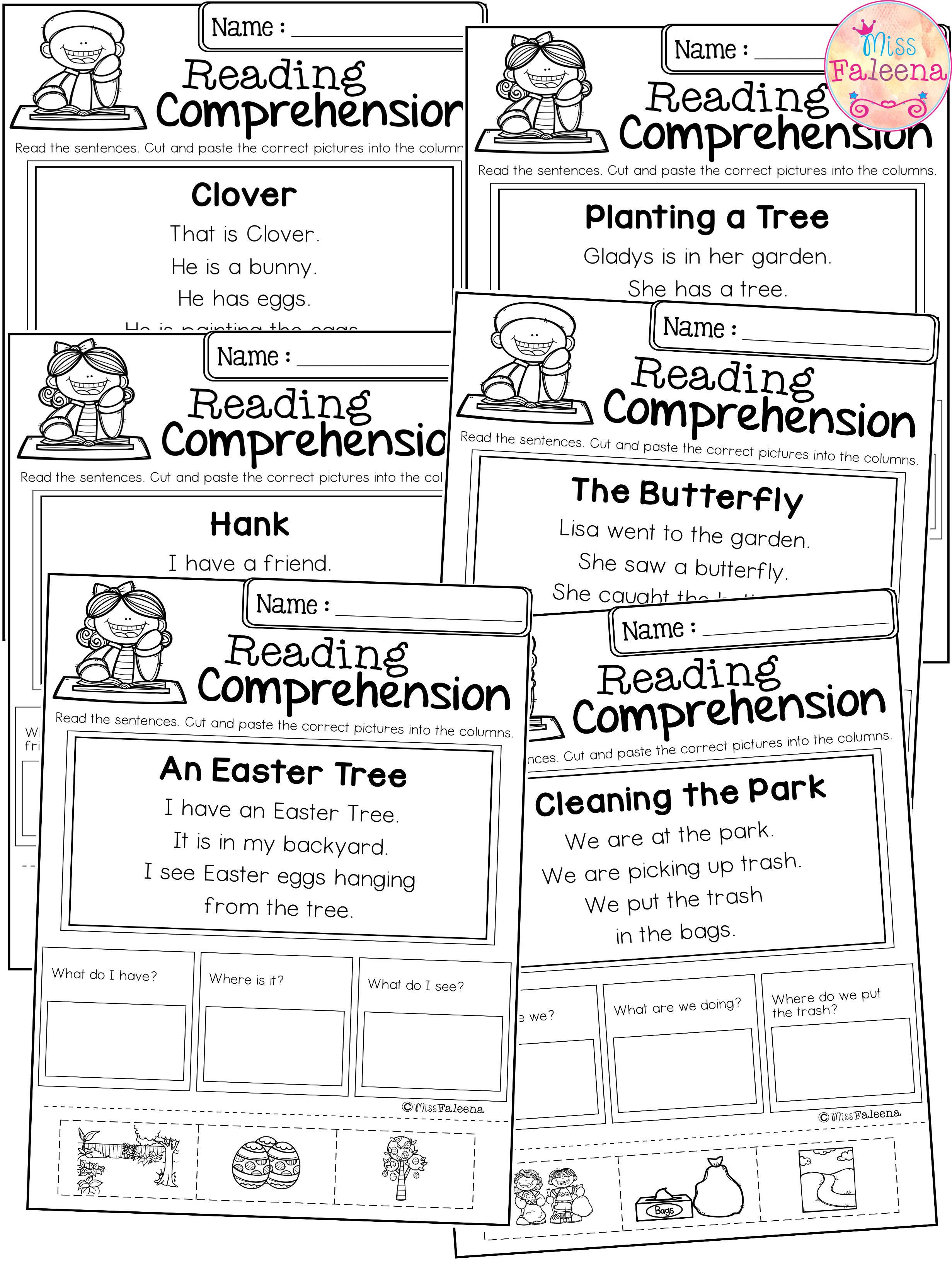 April Reading Comprehension Cut And Paste