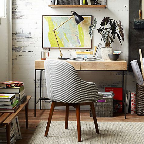 saddle office chair. Buy West Elm Saddle Office Chair, Painted Stripe/Gravel Online At Johnlewis.com | Interiors Pinterest Paint Stripes, Furniture And Nook Chair