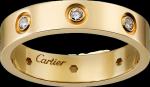 <span class='lovefont'>A </span> wedding band, 8 diamonds Yellow gold, diamonds
