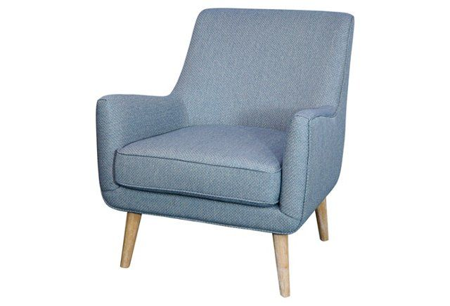 Chloe Accent Chair Light Blue Upholstered Accent Chairs Accent