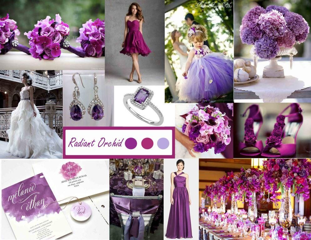 Radiant orchid ideas para decorar tu boda con el color del for Orchid decor