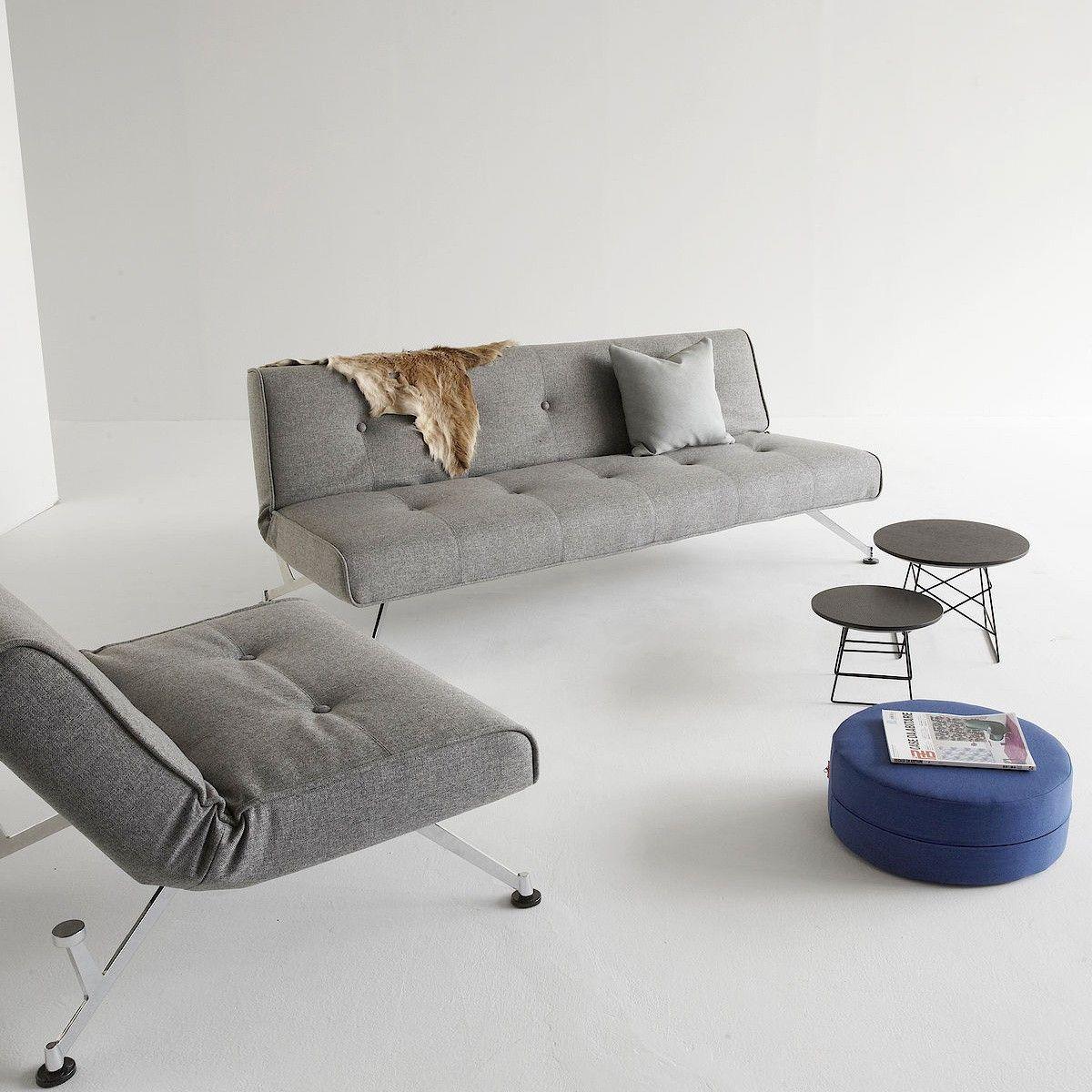 Divano letto design moderno scandinavo in ecopelle Clubber