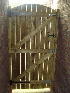 Wooden Garden Gate Treated High X Wide Mais