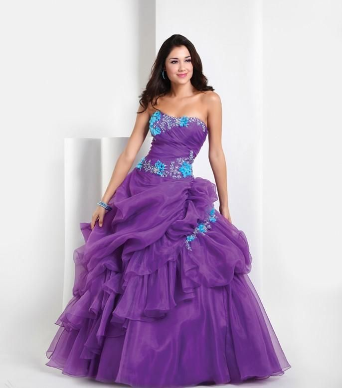 Beautiful Wedding Dresses With Purple Decoration