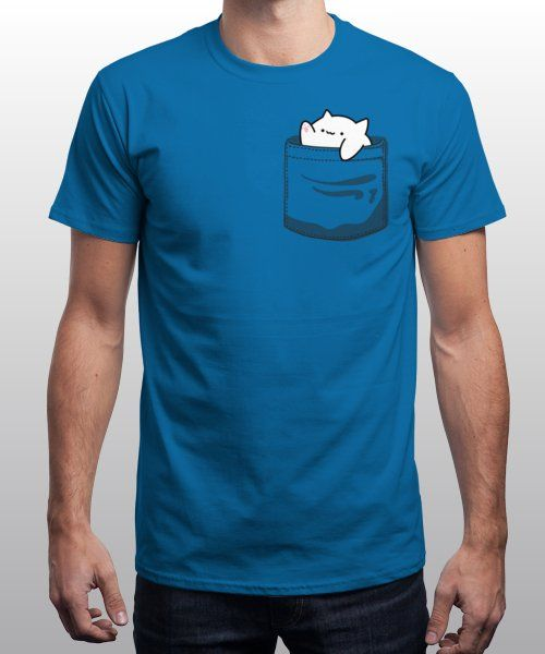 """""""Pocket Cat"""" is today's £9/€11/$12 tee for 24 hours only on Pin this for… 