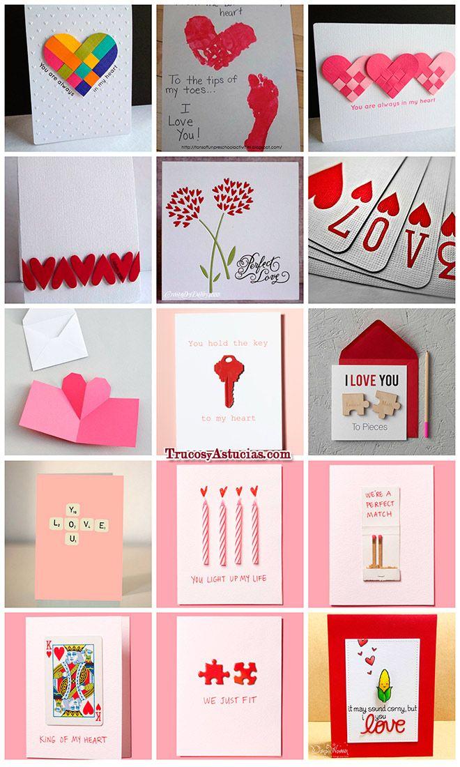 Tarjetas De San Valentin Para Hacer Con Manualidades Tarjetas
