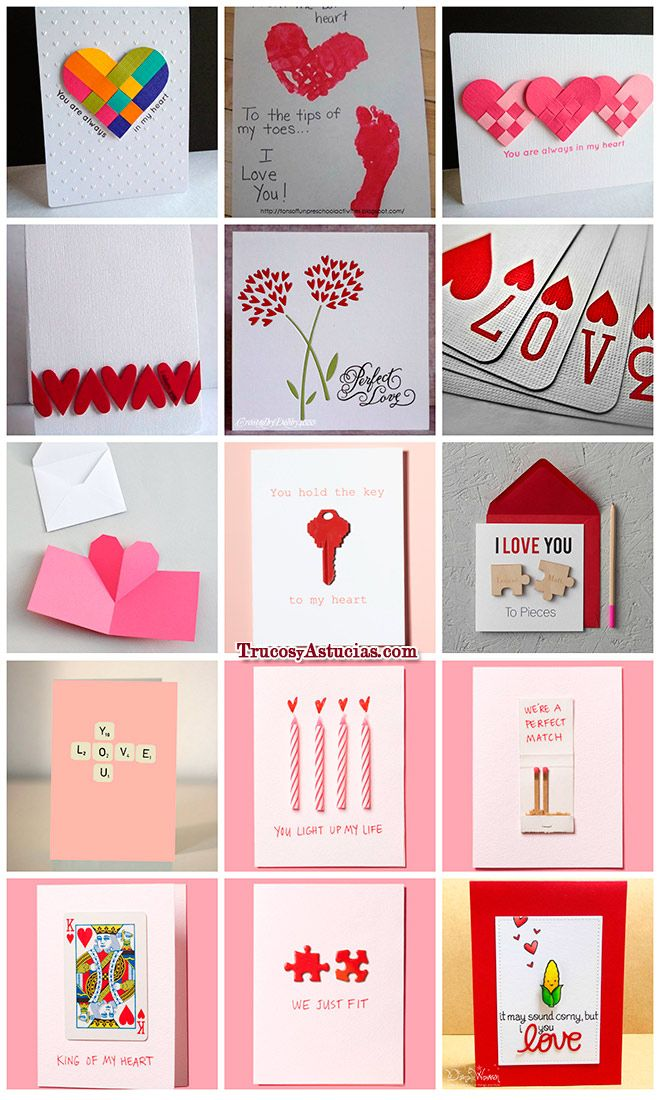 Tarjetas de san valent n para hacer con manualidades love pinterest manualidades cards - Ideas para sanvalentin ...