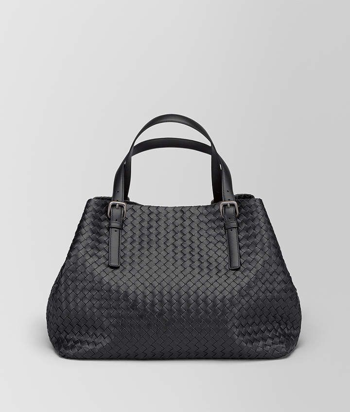 61d48b4efe Bottega Veneta NERO INTRECCIATO NAPPA LARGE CESTA BAG