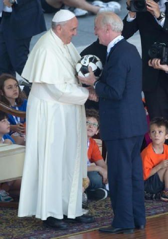Our beloved Pope Francesco with the big Trapattoni.