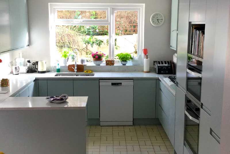 An Innova Luca Cornflower Blue Kitchen Real Customer Kitchens