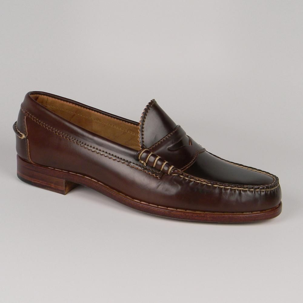 2b7917aa51b Rancourt and Company - Beefroll Penny Loafers - Color 8 Shell Cordovan  Description Beefroll Penny Loafers