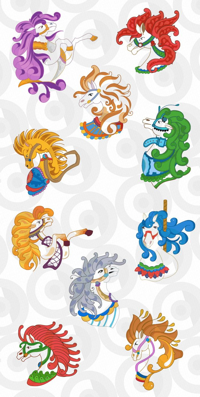 carousel horse border | carousel horses (With images ...