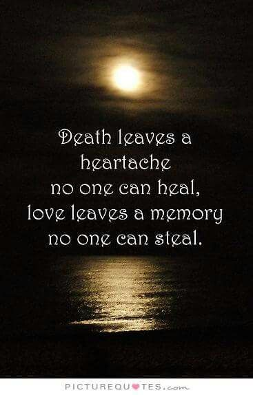 Death Leaves A Heartache No One Can Heal Love Leaves A Memory No Inspiration In Memoriam Of A Loved One