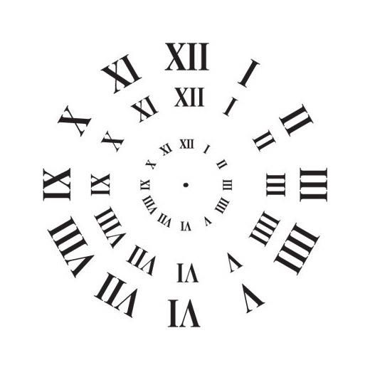 Stencil Clock Face Roman Numerals 3 Sizes Clock