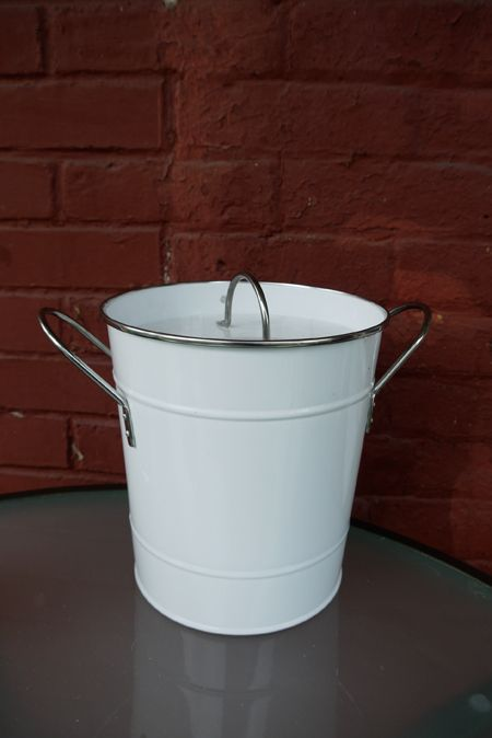 Diy Kitchen Compost Bucket Byebyebrooklyn Galvanized Charcoal Filter Scissors Masking Tape