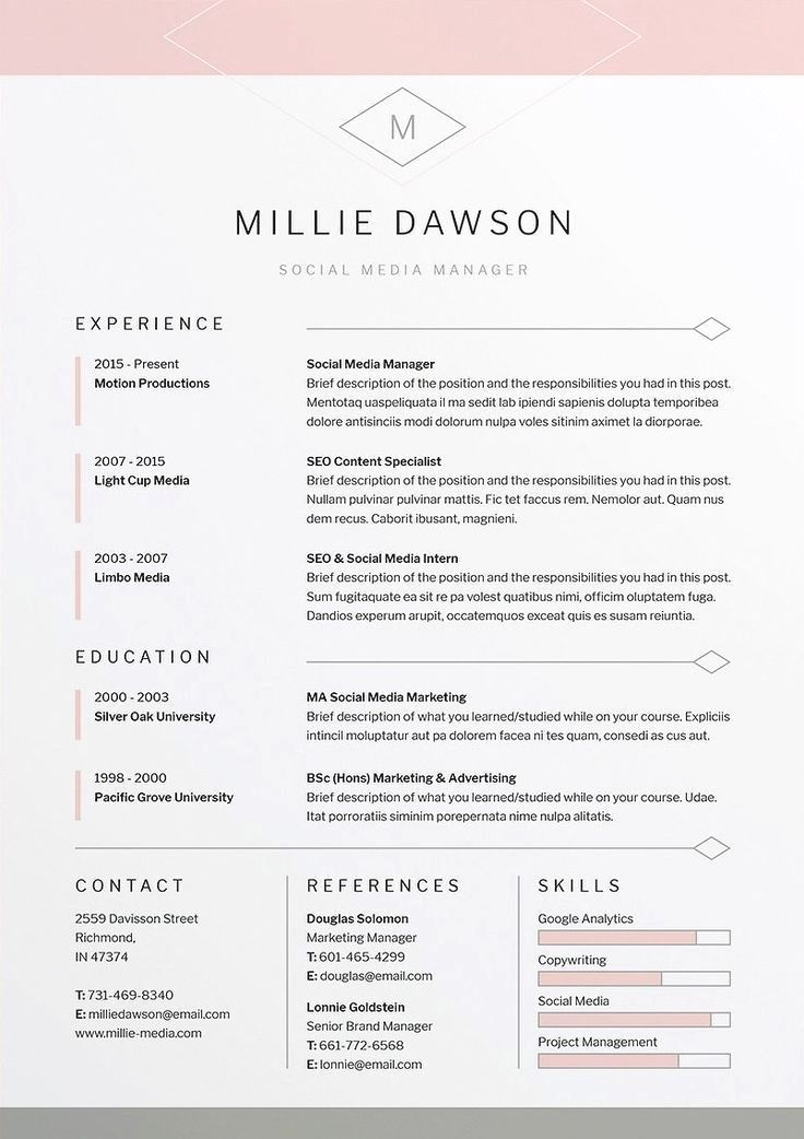 7 Tips for Designing the Perfect Resume Resume design